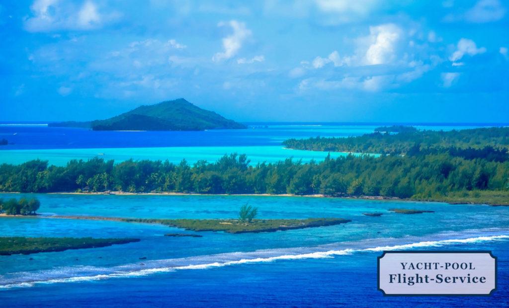 Bora Bora Perle des Pazifiks. Segeln und Segelurlaub, Meer, weißer Strand, Korallen, Inselatoll, Unterwasser-Tiere