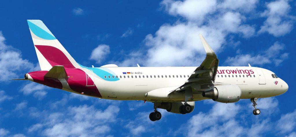Flugzeug, Eurowings, Neue Flugstrecken ab 2020 nach Anchorage, Phoenix, Las Vegas, Orlando