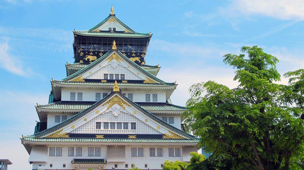 Osaka, Burg, Japan, Neue Flugstrecken der Swiss Airline