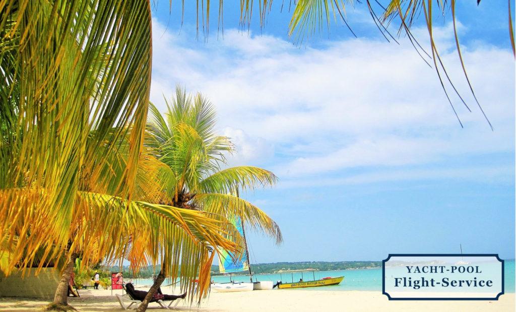 Jamaika, Karibik, Palmen, Sandstrand, Boote, Erholung, Sonne, Urlaub